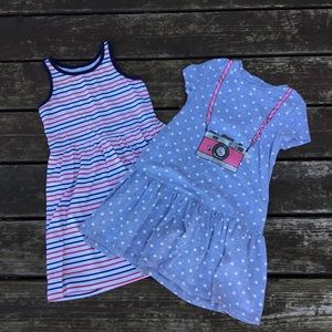 Set of 2 girls casual cotton dresses size 6X